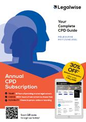 Legal CPD Brochure for Vic seminars